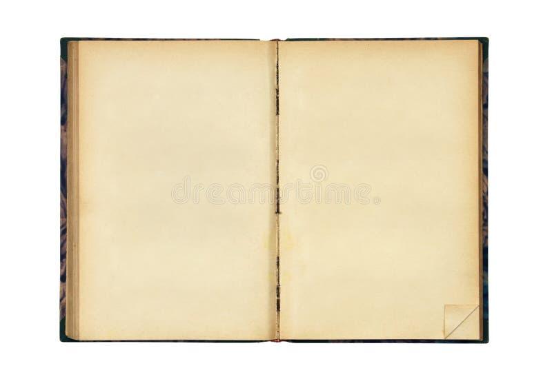 Abra el libro en blanco viejo fotografía de archivo