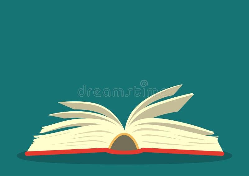 Abra el libro en fondo del trullo libre illustration