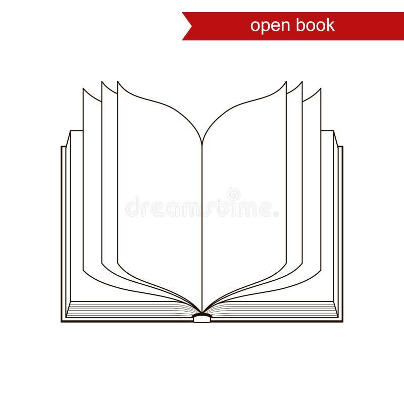 Abra el libro Engrana el icono libre illustration
