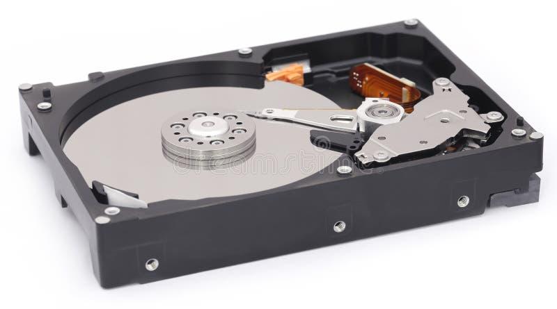 Abra el mecanismo impulsor de disco duro imagen de archivo