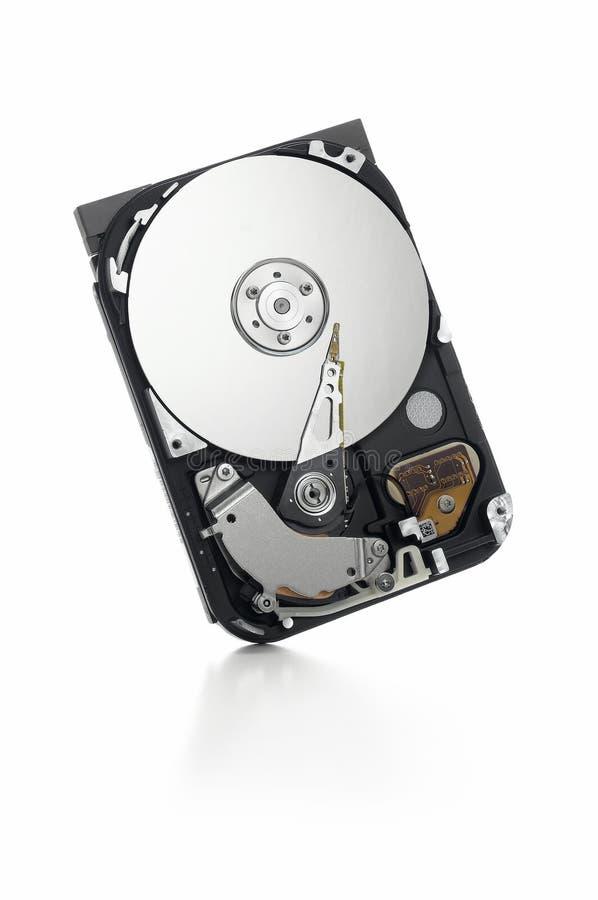 Abra el mecanismo impulsor duro que se coloca en blanco fotos de archivo