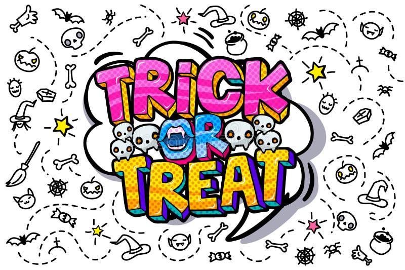 Abra el mensaje de la boca y del feliz Halloween libre illustration