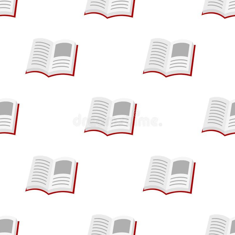 Abra el modelo inconsútil del icono plano del libro stock de ilustración