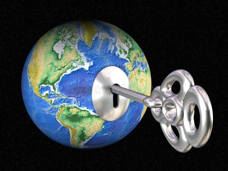 Abra el mundo ilustración del vector