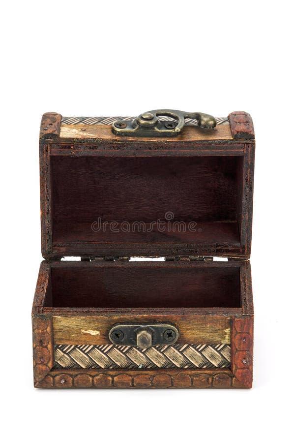 Abra el pecho de madera imagen de archivo libre de regalías