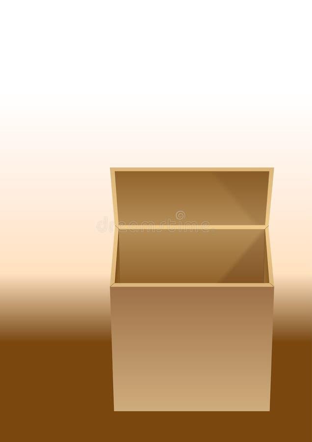 Abra el rectángulo stock de ilustración