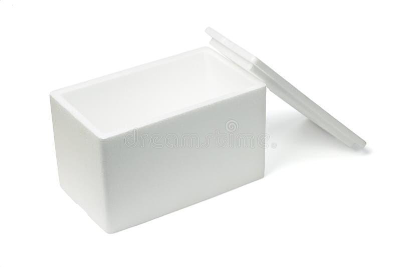 Abra el rectángulo de almacenaje de la espuma de poliestireno imagen de archivo