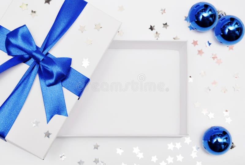 Abra el rectángulo de regalo vacío imagen de archivo