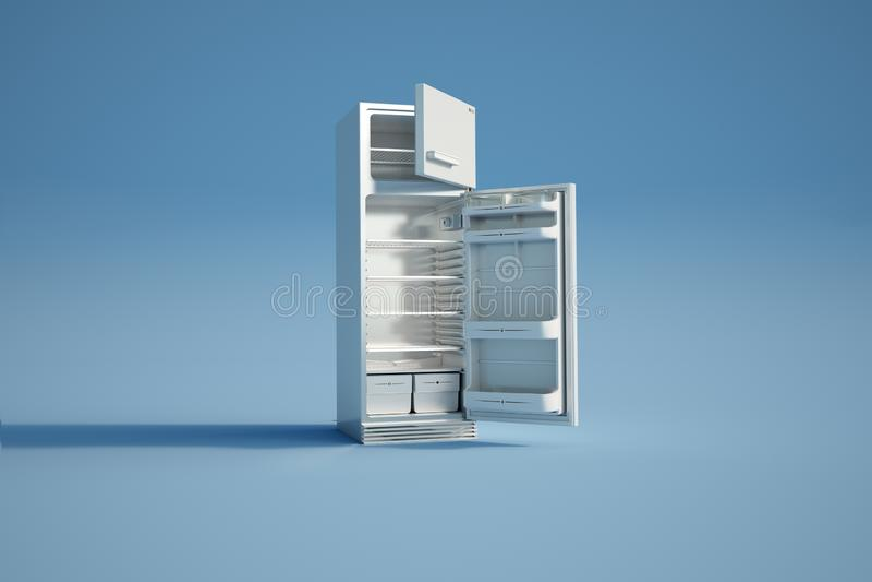 Abra el refrigerador vac?o libre illustration