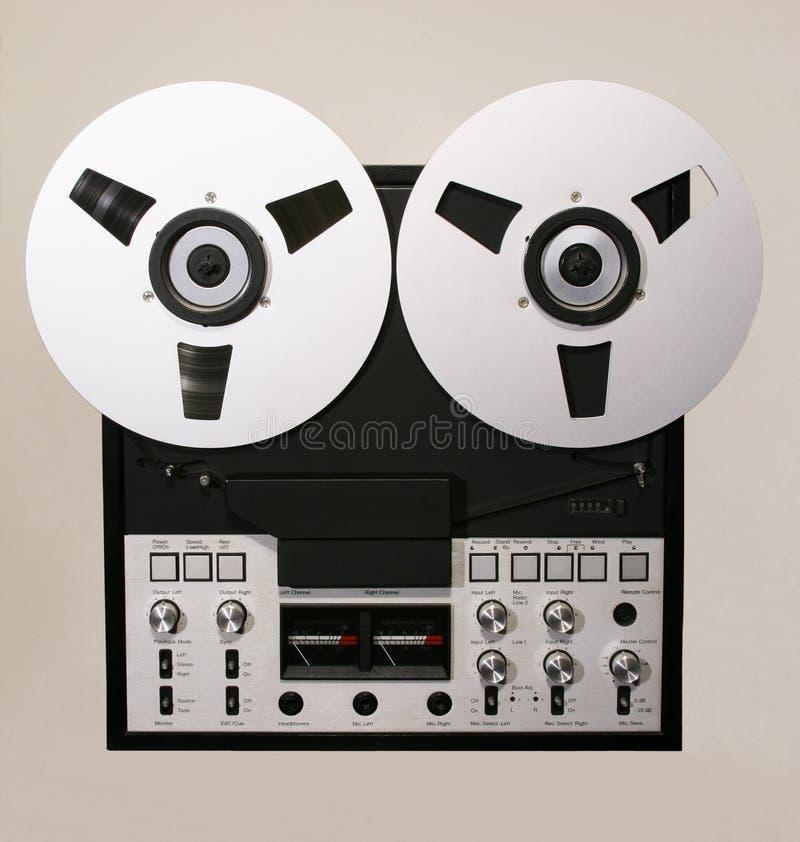 Abra el registrador del audio del carrete imagen de archivo