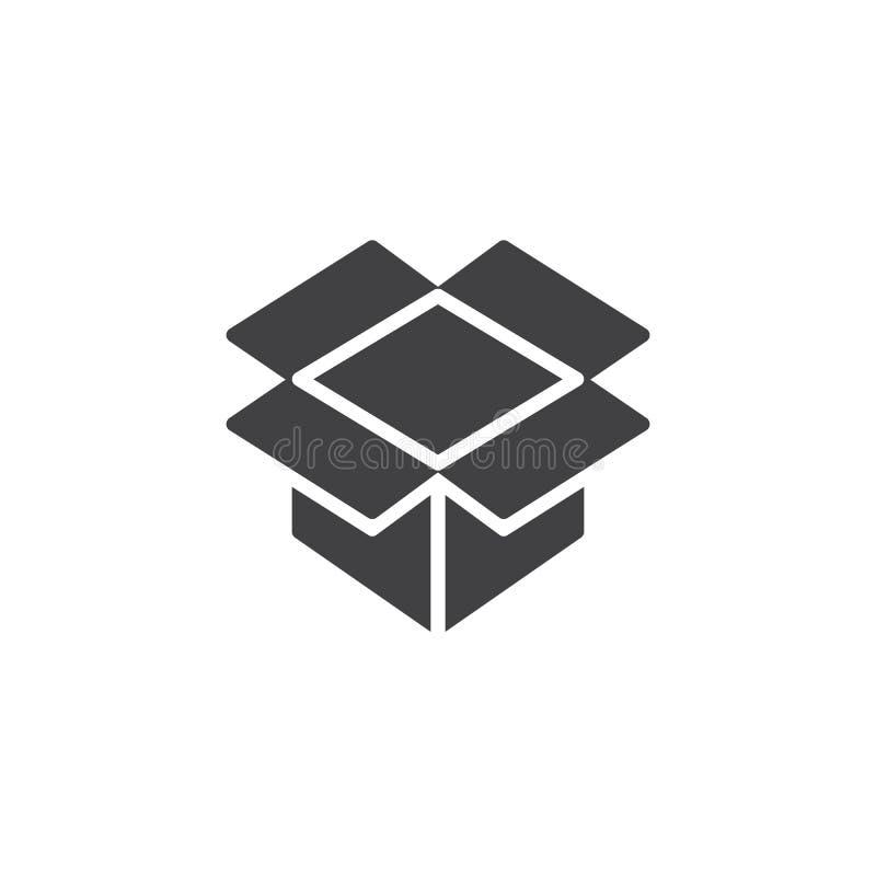 Abra el vector del icono de la caja del paquete ilustración del vector