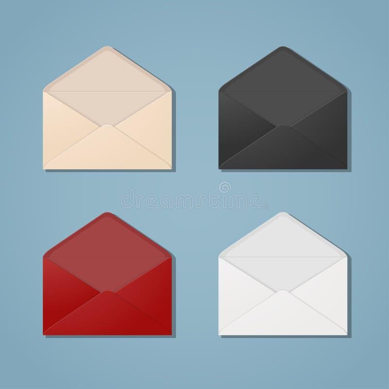 Abra envelopes ilustração royalty free