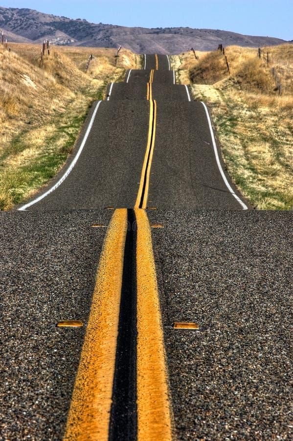 Abra a estrada fotografia de stock