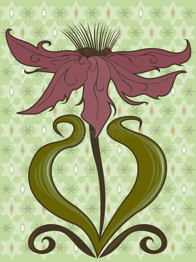 Abra a flor ilustração do vetor