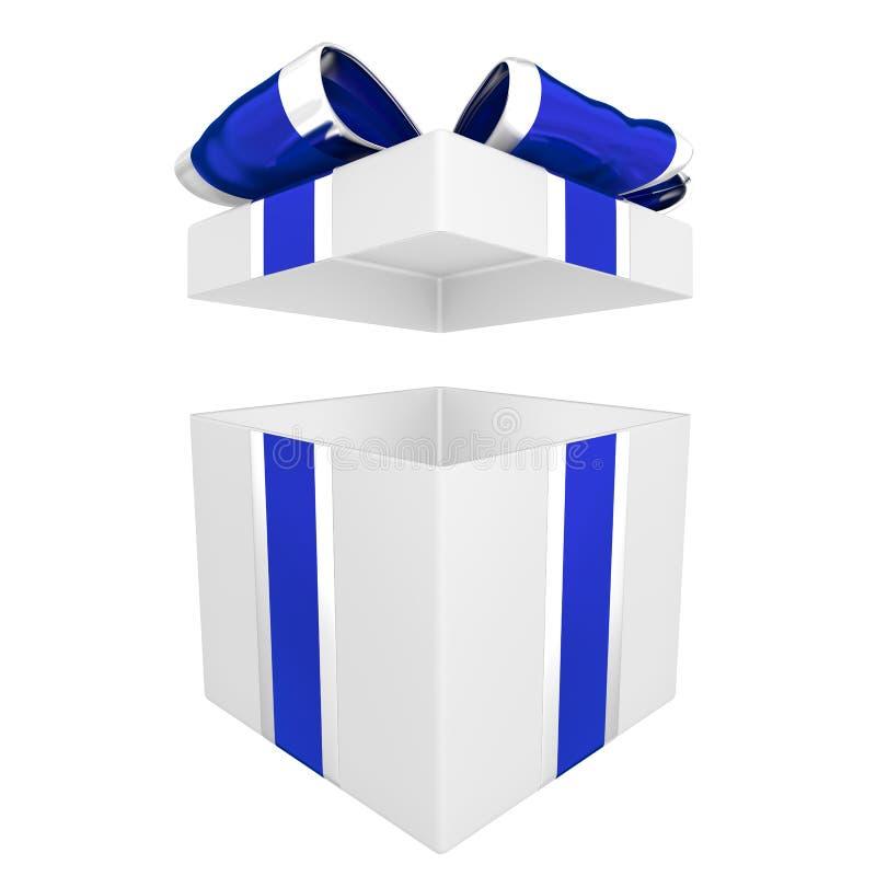 Abra a ilustração da caixa de presente 3D ilustração stock