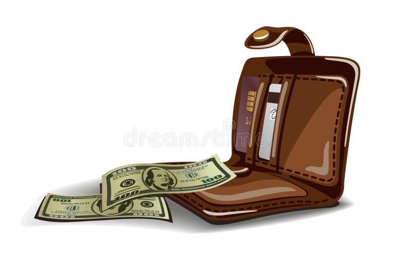 Abra a ilustração da carteira ilustração royalty free
