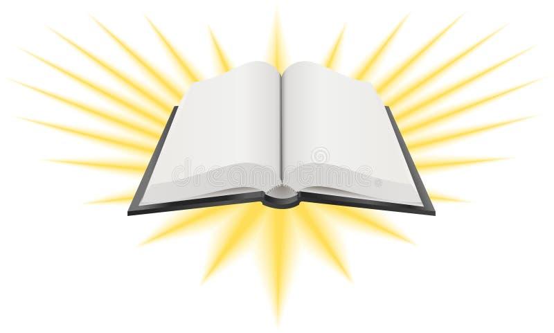 Abra a ilustração do livro sagrado ilustração royalty free