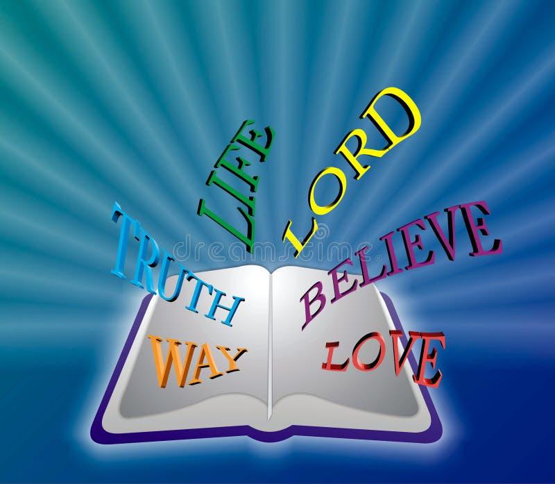 Abra la biblia ilustración del vector