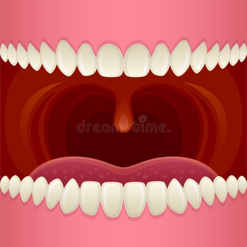 Abra la boca stock de ilustración