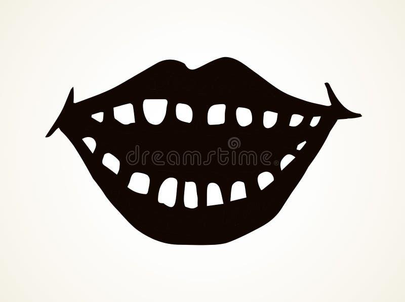 Abra la boca con los dientes Gr?fico del vector ilustración del vector
