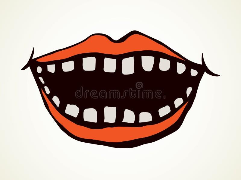 Abra la boca con los dientes Gr?fico del vector stock de ilustración