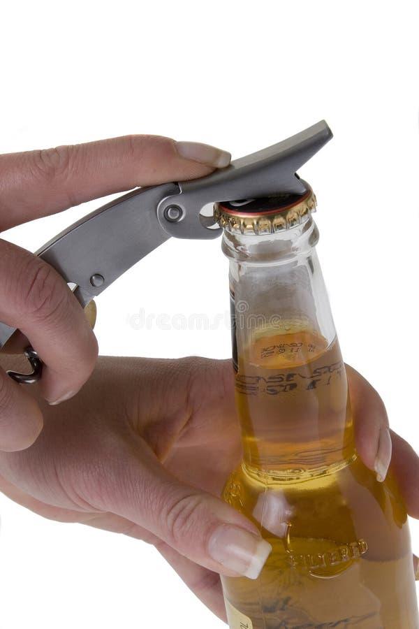 Abra La Botella De Cerveza 1 Fotos de archivo libres de regalías