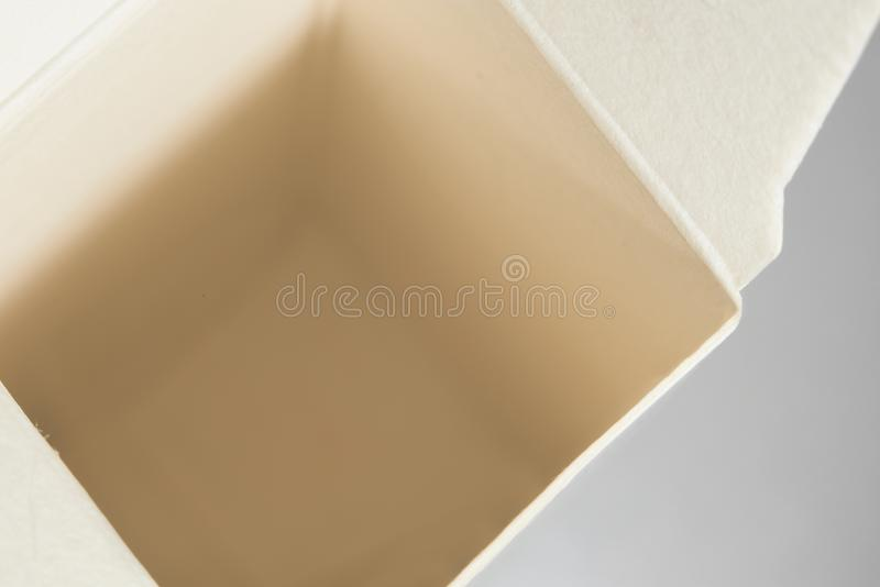Abra la caja encima de la macro, foto fotografía de archivo libre de regalías