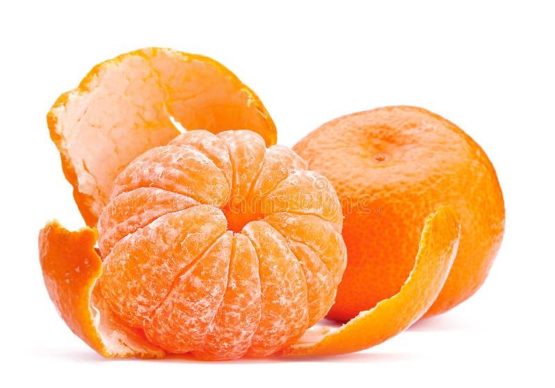 Abra la fruta de la mandarina fotos de archivo