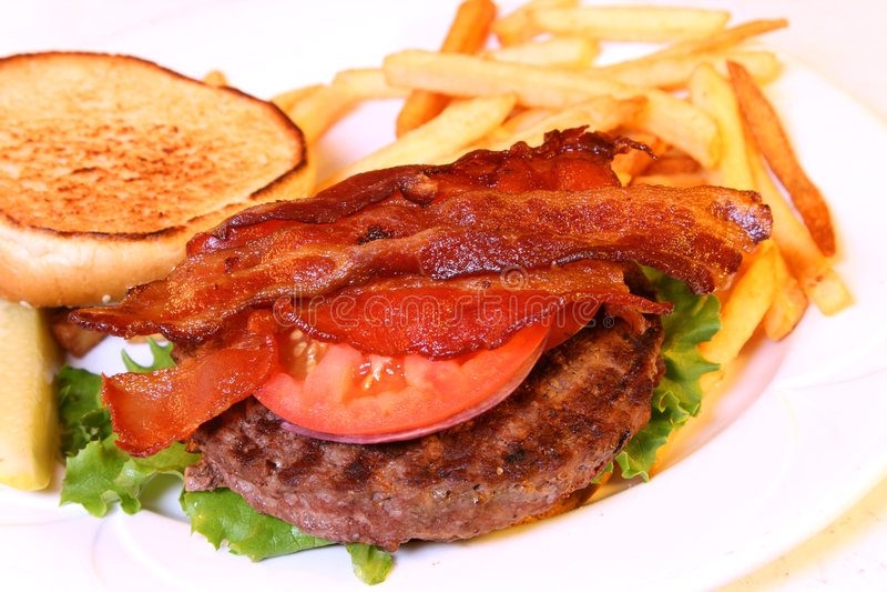 Abra la hamburguesa fotografía de archivo