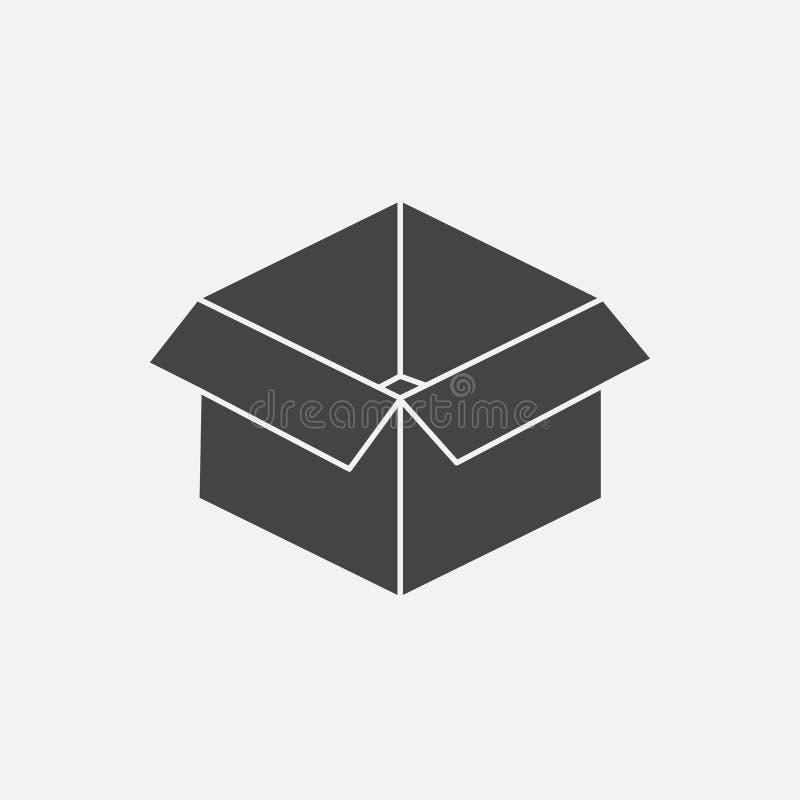 Abra la imagen del vector de la caja Muestra del paquete y de mercancías libre illustration