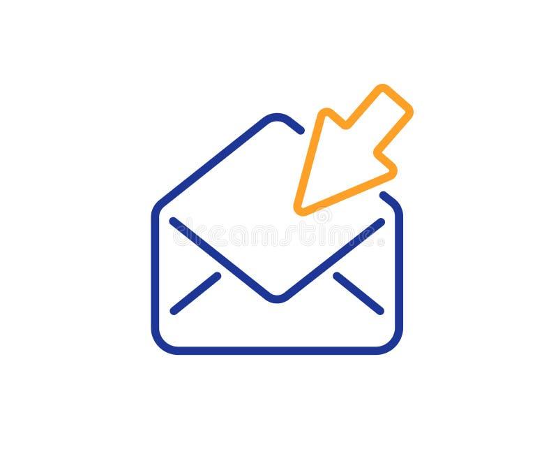 Abra la línea icono del correo Muestra de la correspondencia del mensaje de la visión Vector stock de ilustración