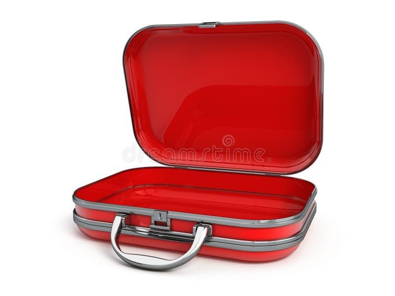 Abra la maleta stock de ilustración
