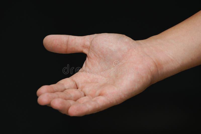 Abra la mano. imagen de archivo libre de regalías