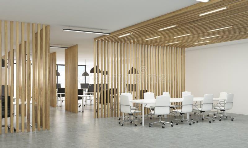 Abra la oficina con las divisiones de madera stock de - Divisiones en madera ...