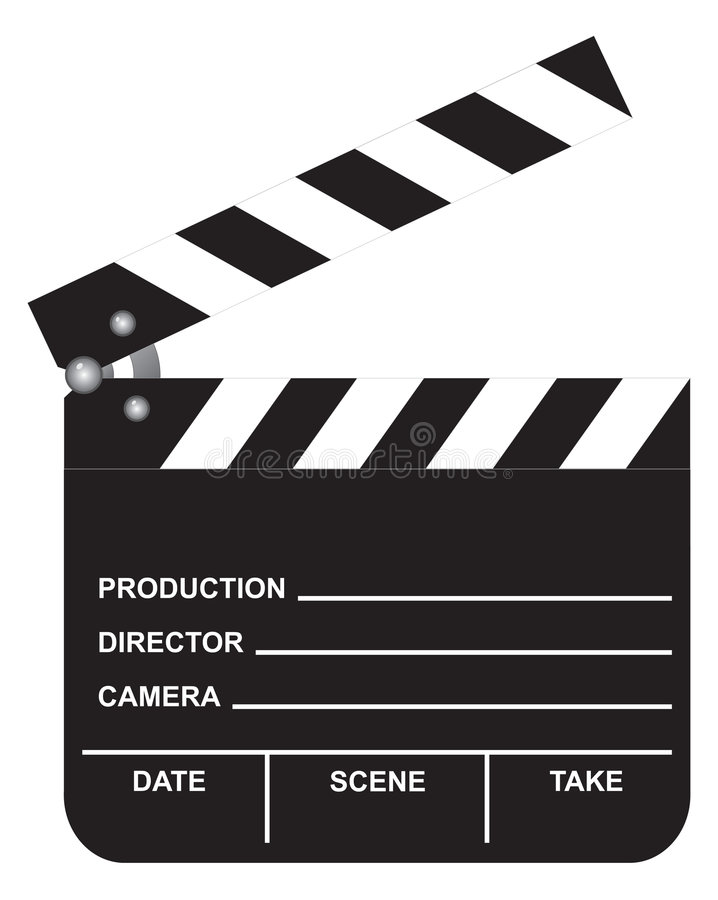 Abra la tablilla de la película libre illustration