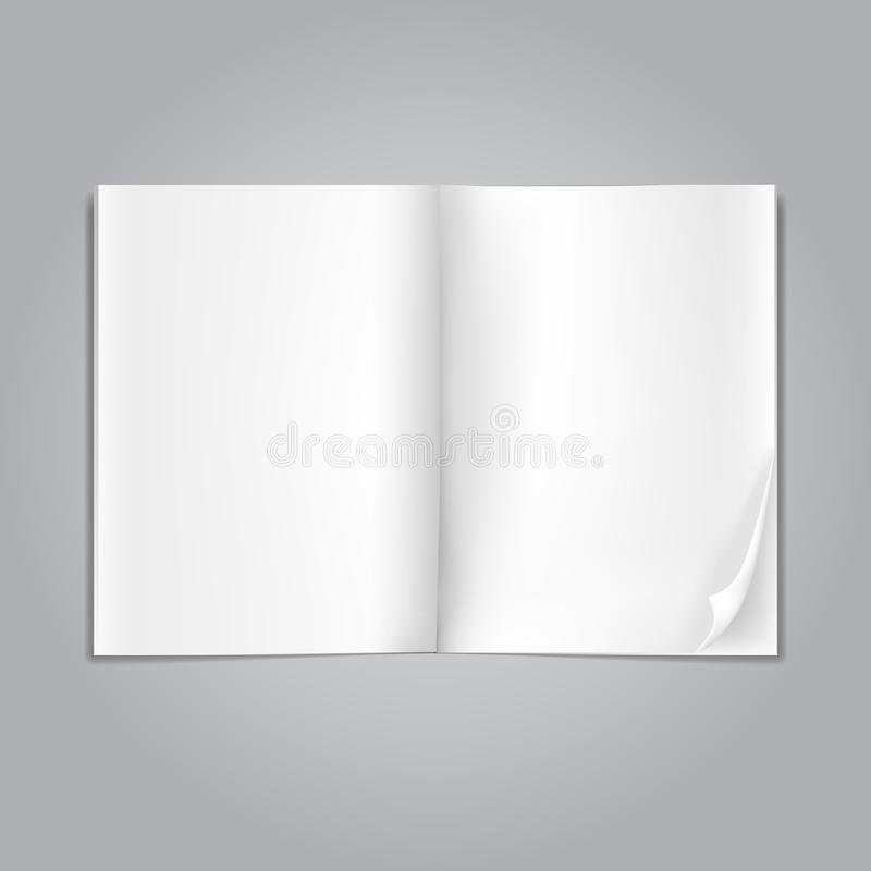 Abra las páginas en blanco de la revista libre illustration