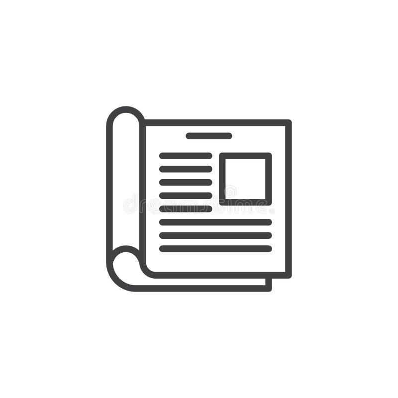 Abra a linha ícone do compartimento ilustração royalty free