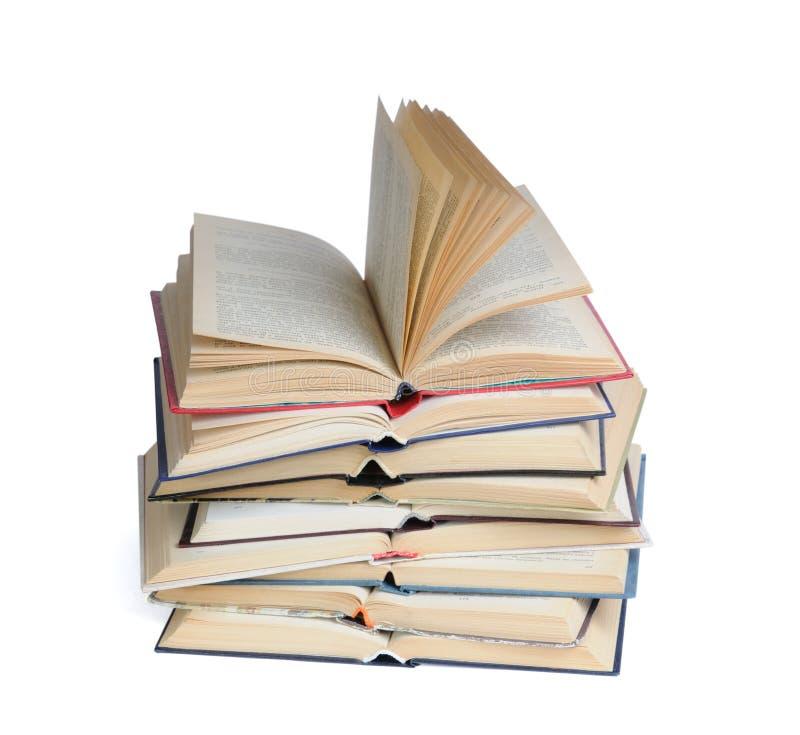 Abra livros fotografia de stock royalty free