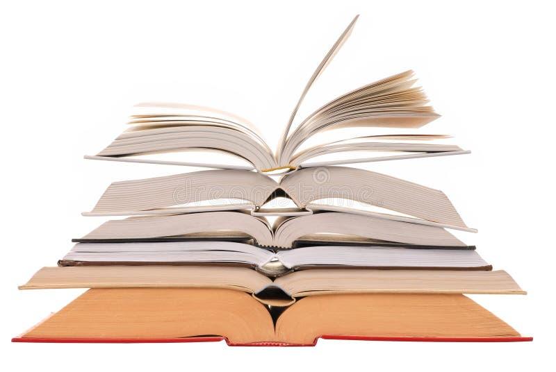 Abra livros imagem de stock royalty free