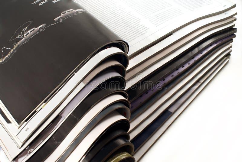 Abra Las Revistas Imagen De Archivo