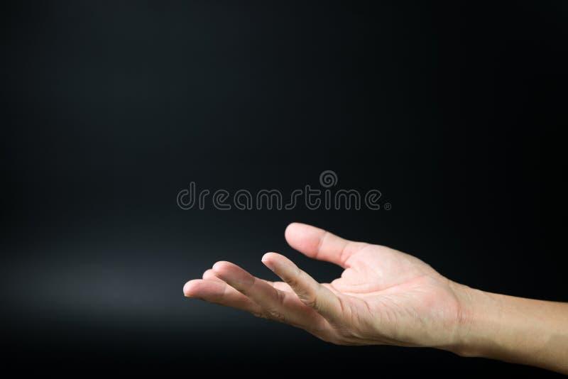 Abra a mão fotografia de stock