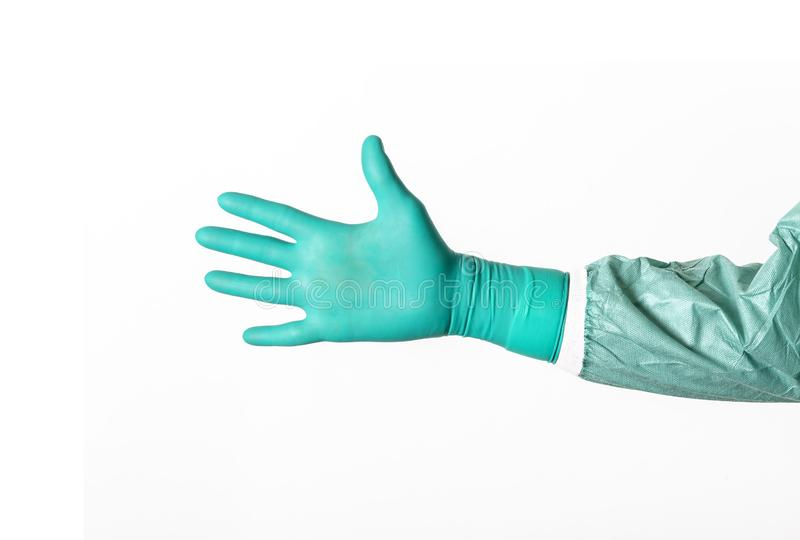 Abra a mão cirúrgica imagem de stock royalty free