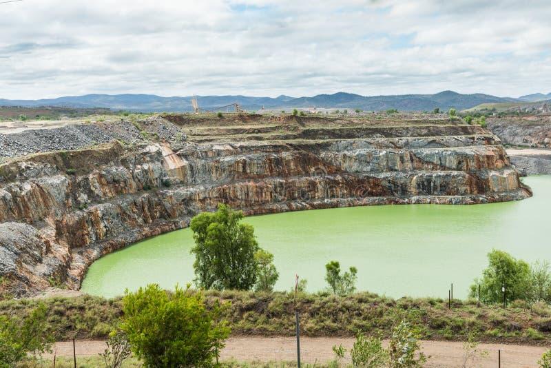 Abra a mina de ouro do corte, Ravenswood, Queensland foto de stock royalty free