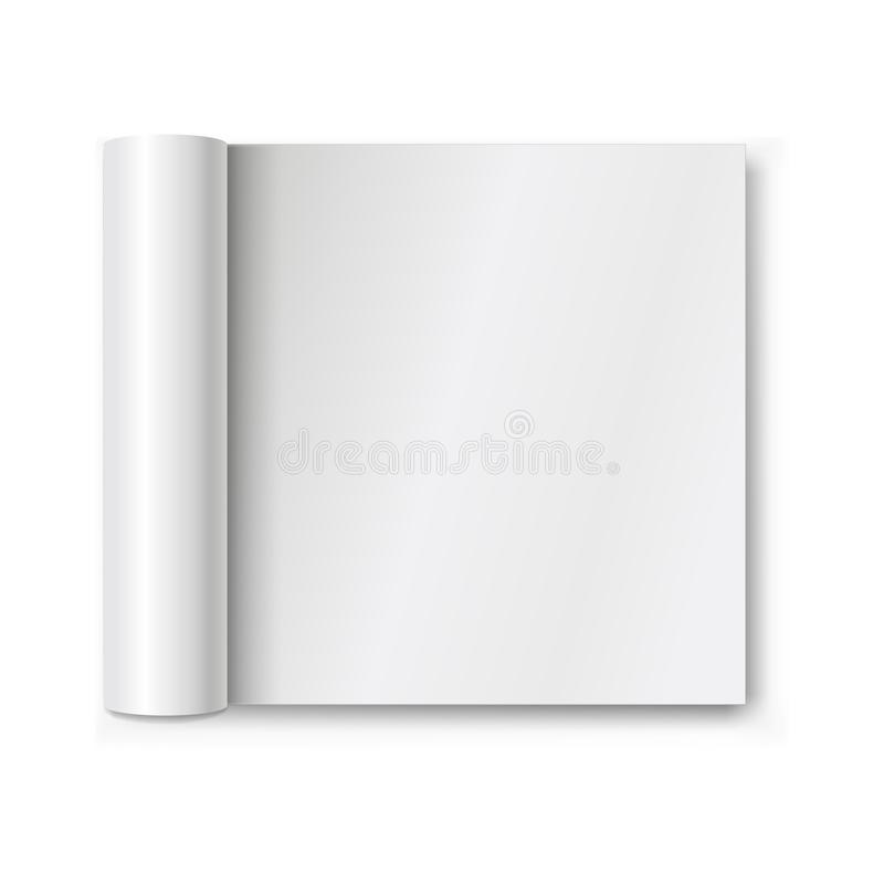 Abra o álbum ou o compartimento vazio com sombra macia Zombaria realística acima ilustração do vetor