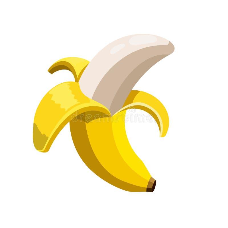 Abra o ícone da banana ilustração royalty free