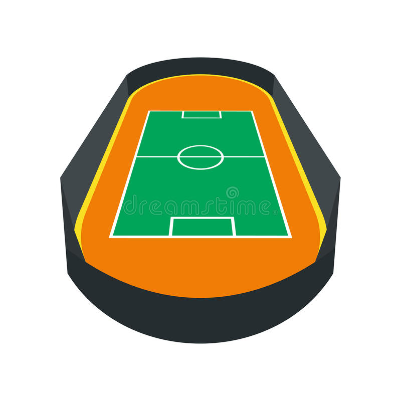 Abra o ícone do campo de futebol ilustração do vetor