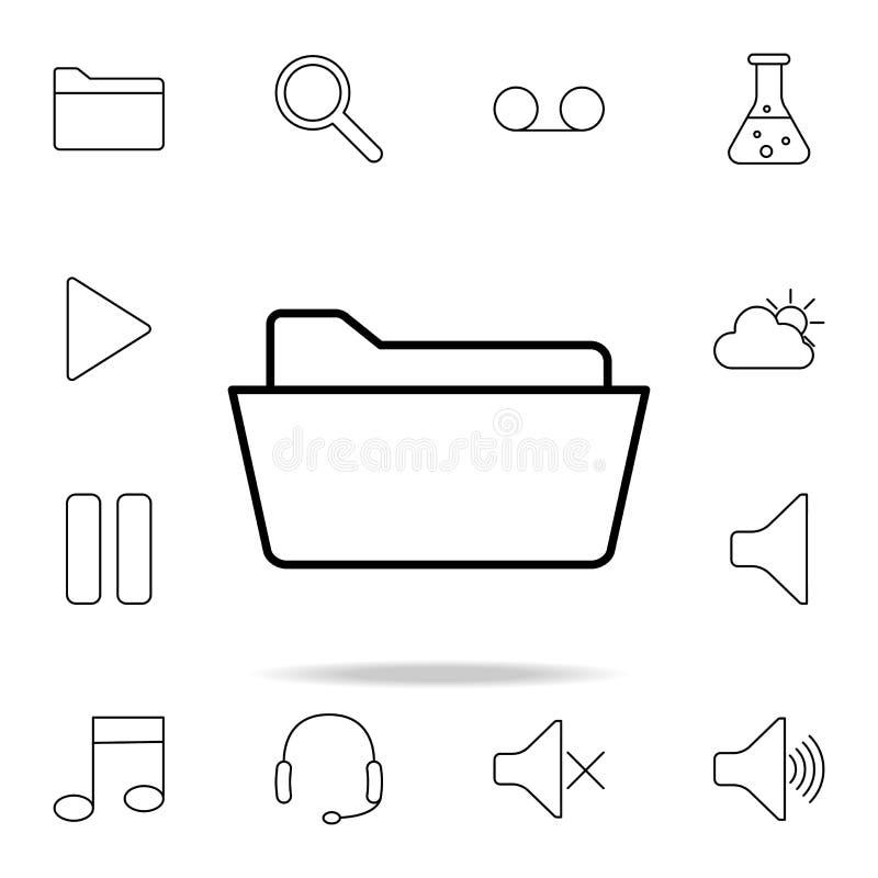 Abra o ícone do dobrador Grupo detalhado de ícones simples Projeto gráfico superior Um dos ícones da coleção para Web site, desig ilustração royalty free