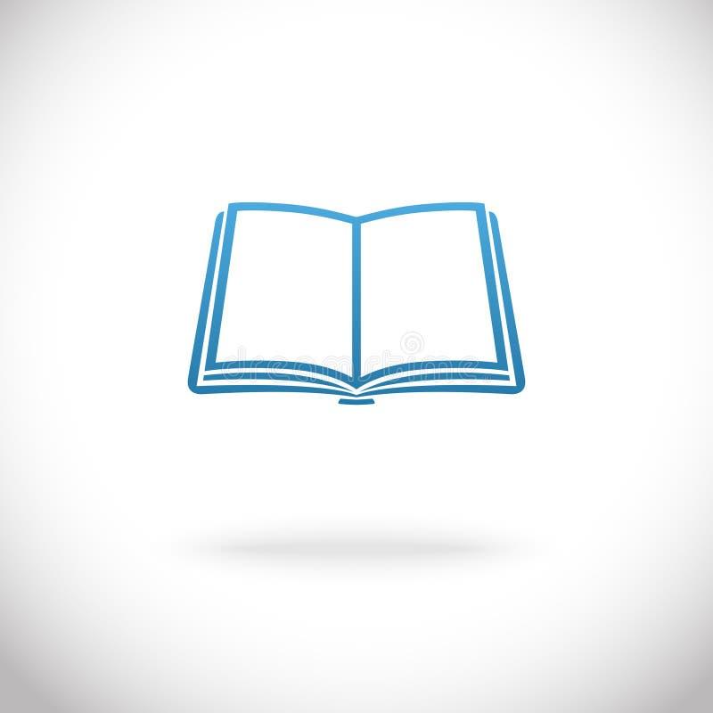 Abra o ícone do livro ilustração royalty free