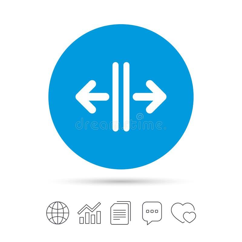 Abra o ícone do sinal da porta Controle no elevador ilustração stock