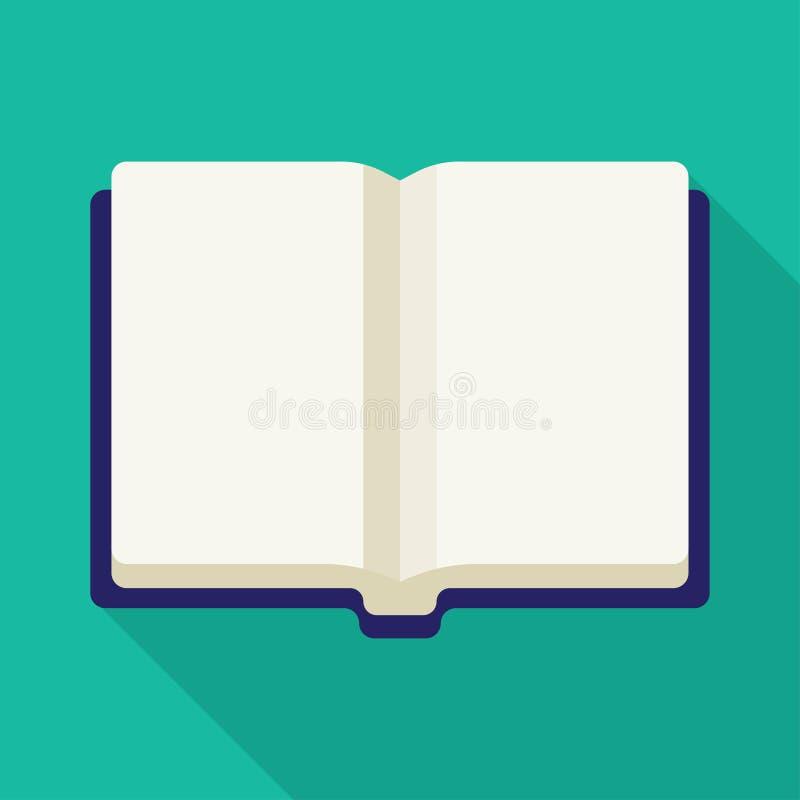 Abra o ícone do vetor do livro ilustração stock